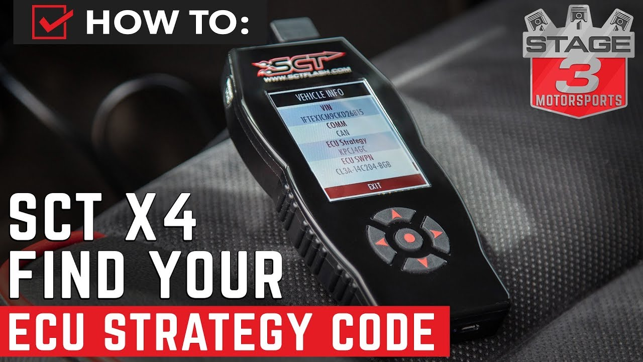 How to Pull Vehicle Strategy Code on SCT X4
