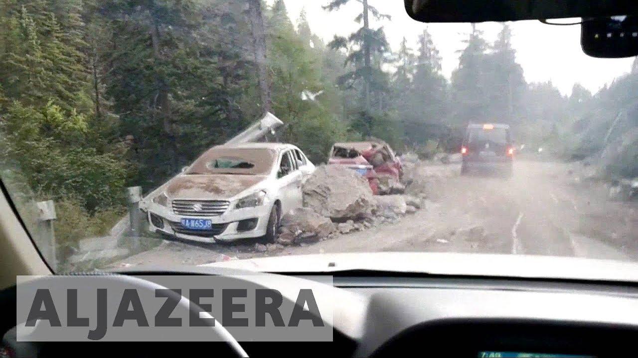 Landslides hamper rescue efforts after quake hits China's Sichuan province