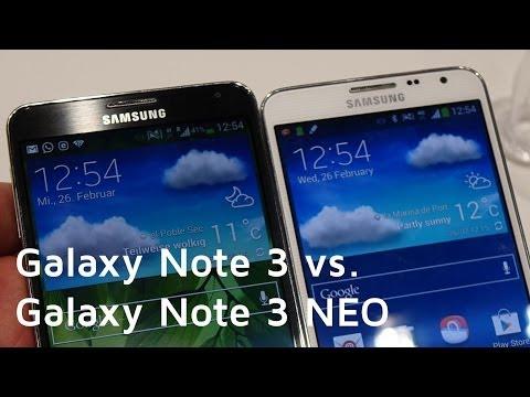 Galaxy Note 3 vs. Galaxy Note 3 NEO | Vergleich