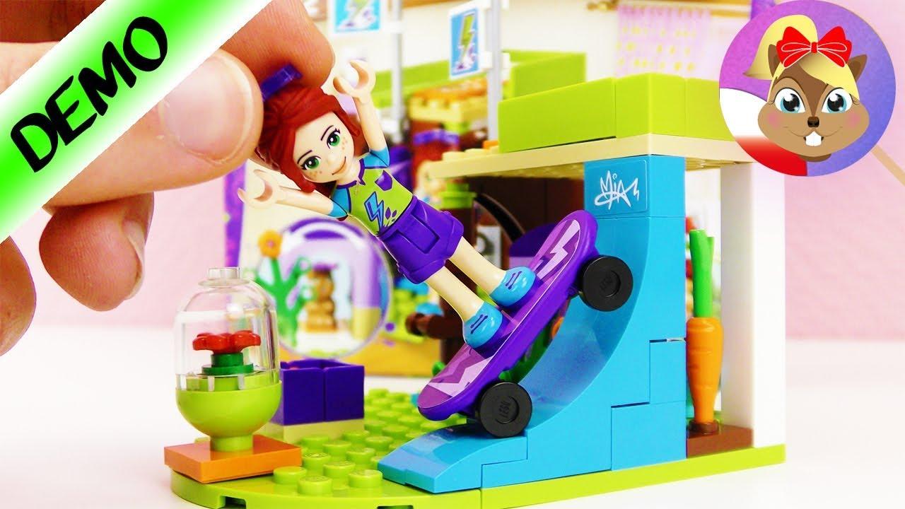 Lego Friends Budowa Pokoju Mii Polski Super Skejtówa Pokój