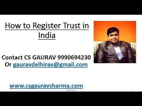 How to Register A Trust in India