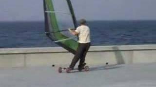 Street windsurfing
