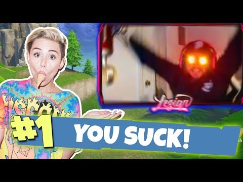 MILEY CYRUS GIVES ME POWERS! Hilarious Fortnite Moments!