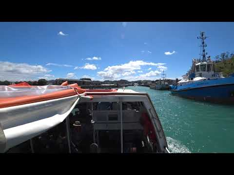 Tender boat into Gisborne New Zealand - Sony fdr x3000 4K