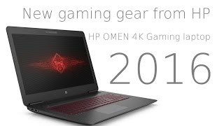 new gaming gear from hp hp omen 4k gaming laptop 2016 and a peak the omen backpack vr computer