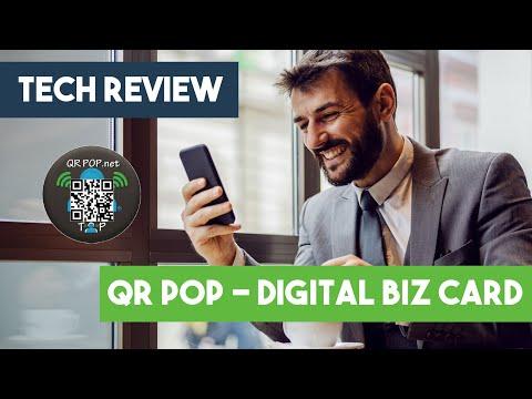 Tech Review - QR Pop - Digital Business Card
