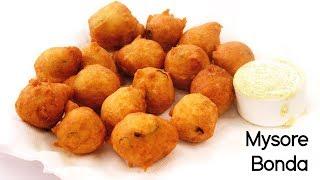 Mysore Bonda Recipe - Bajji Preparation in South Indian Style - CookingShooking