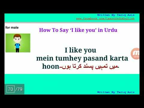 How To Say I Like You In Urdu And Hindi