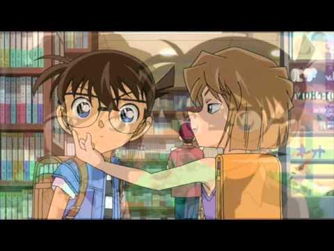 Conan & Haibara Dream Sweet Shy Kiss