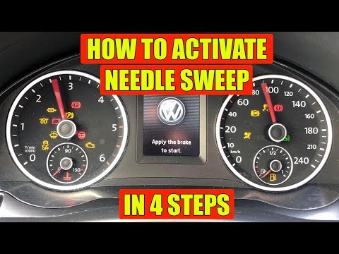 How to set needle sweep / indicator celebration VW, Skoda, Audi, Seat