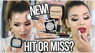 TESTING NEW L'OREAL MAKEUP! | HIT OR MISS DRUGSTORE 2017