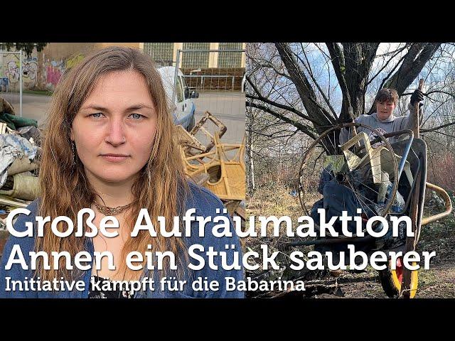 Aufräumaktion im bedrohten Wald in Witten-Annen