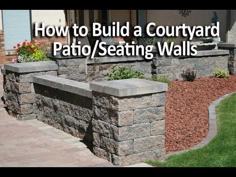How to Build a Patio Enclosure with Seating Walls & How to Build a Patio Enclosure with Seating Walls - YouTube