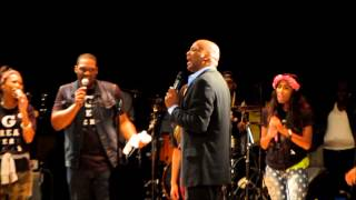 Pastor Donnie McClurkin, Brandon Jones and Kefia Rollerson at Tye Tribbett