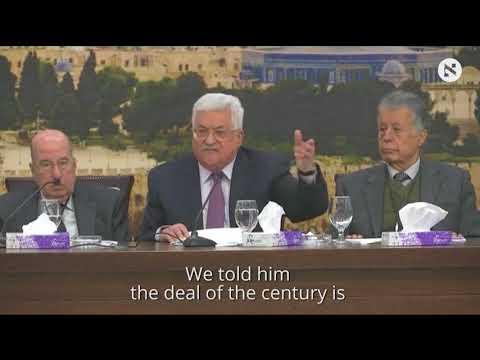 Palestinian president slams Trump's role in Israeli-Palestinian conflict