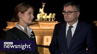 Unpacking the German election campaign  Tanit Koch and Stefan Kornelius – BBC Newsnight