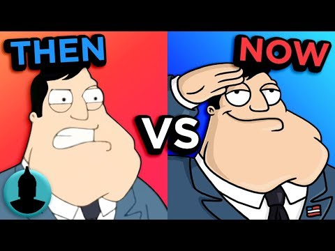 Then Vs. Now - American Dad - The Evolution Of American Dad (Tooned Up S5 E21)