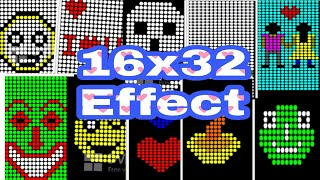 16x32-Animation-Effekt || Alle Neuen-Design || Antor Elektronik || Tangail. Bangladesch