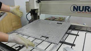 커다란 알루미늄5T 가공하기 [가공조건설명] (CNC조…