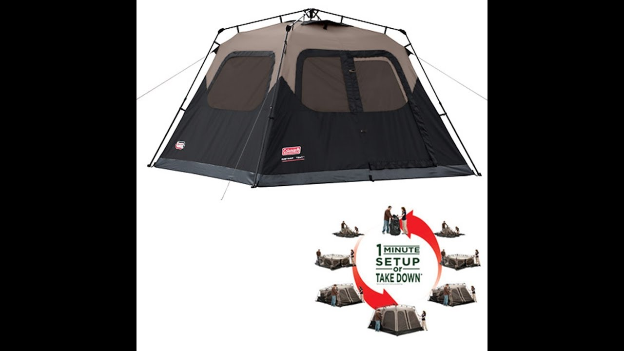 sc 1 st  YouTube & Coleman 4 Person Instant Tent - YouTube