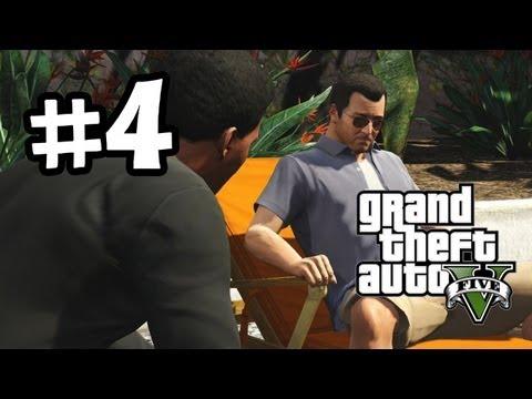 Grand Theft Auto 5 Part 4 Walkthrough Gameplay - Need Money - GTA V Lets Play Playthrough
