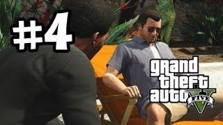 Grand Theft Auto 5 Part 4 Walkthrough Gameplay - Need Money - GTA V Lets Play Playthrough