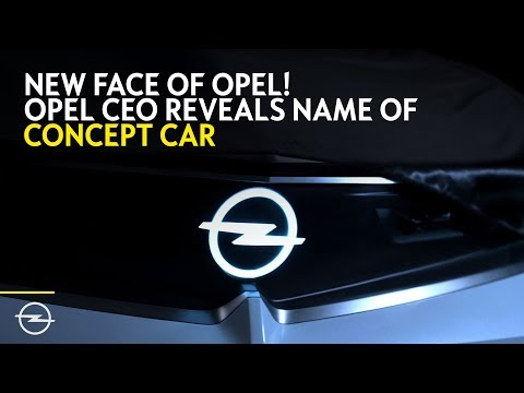 New Brand Face: First Glimpse at Opel's New Concept Car