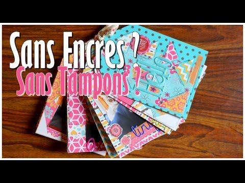 Mini Album Sans Encres & Sans Tampons ! Débutant ♡