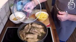 Готовим гороховый суп с куриными спинками.