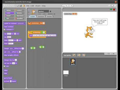 Scratch - Selection 02 - Conditional Statements & Comparison Operators