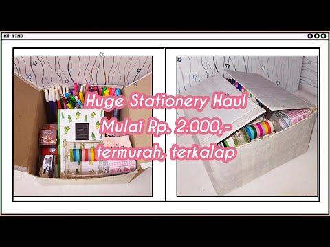 HUGE STATIONERY HAUL SHOPEE INDONESIA | STATIONERY MURAH / ALAT TULIS MURAH/ SHOPEE SCHOOL SUPPLIES