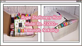 HUGE STATIONERY HAUL SHOPEE INDONESIA | STATIONERY MURAH / ALAT TULIS MURAH/ SHOPEE SCHOOL SUPPLIES