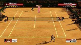 Virtua Tennis 3 Monfils (me) vs Federer - Very Hard [HD]