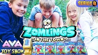 Zomlings Series 4 in a creepy forest