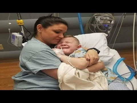 5-year-old-wakes-from-surgery-with-no-one-by-his-side,-nurse-approaches-and-holds-him-tight