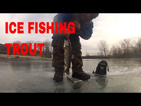 Ice fishing perch and trout new york 1 21 2015 youtube for New york out of state fishing license