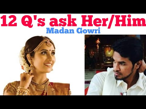 12 Questions You Should Ask Her / Him | Tamil | Madan Gowri | MG