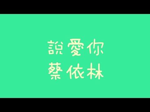蔡依林 - 說愛你【歌詞】