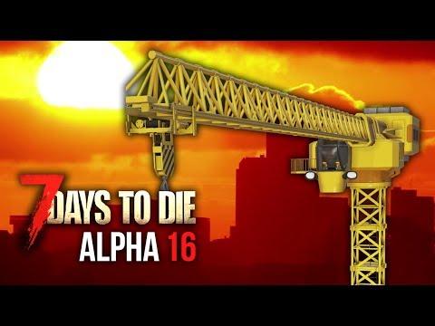 NIGHT SEVEN CRANE SURVIVAL ★ 7 Days To Die (Alpha 16, Ep.14)