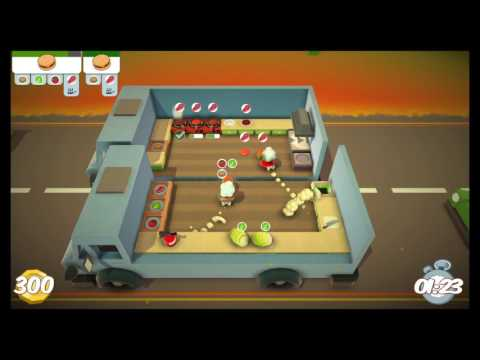 [Overcooked: Level 2-1] 2-Player OUTDATED World Record Score: 556