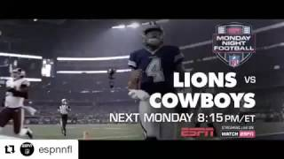 MNF Promo Week 16:Lions vs Cowboys