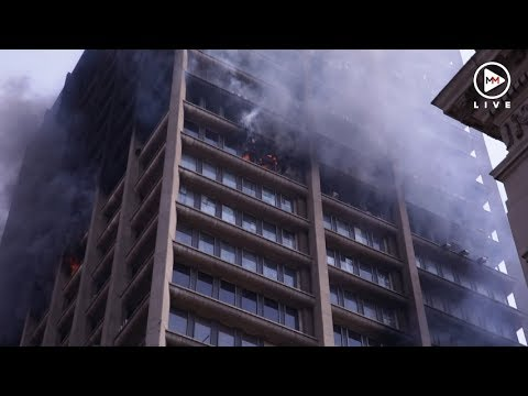 Johannesburg building engulfed by flames still burning a day later