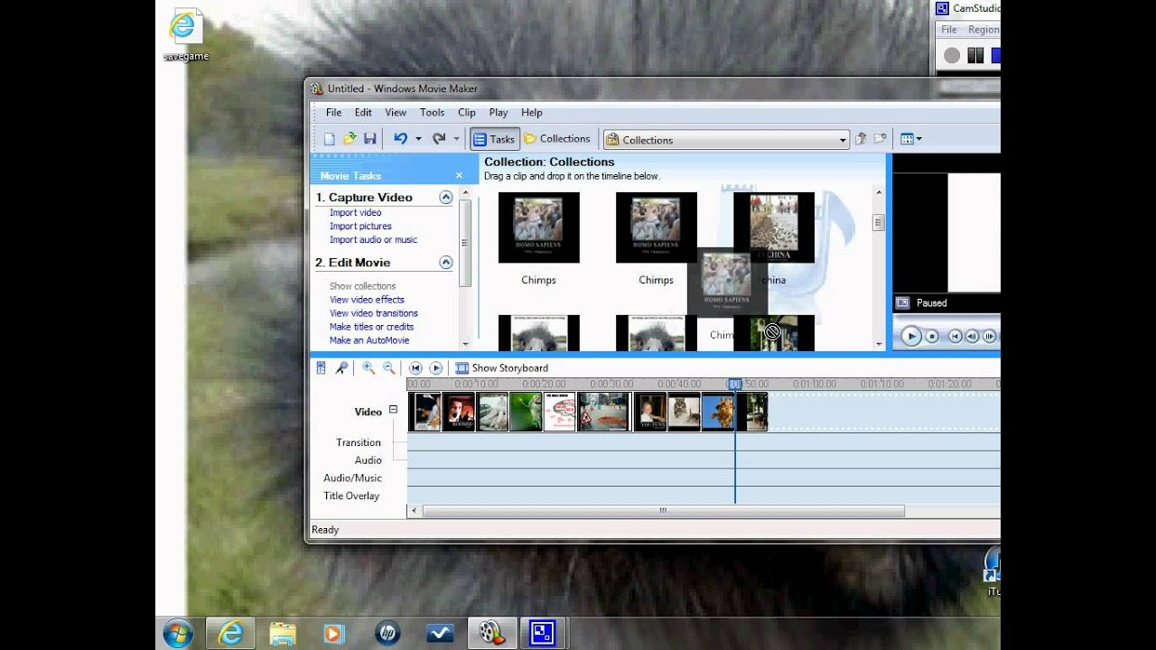 how to use live movie maker