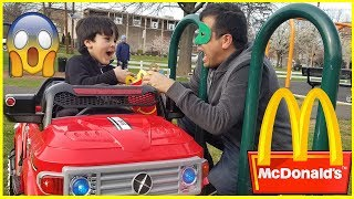 Kids Drives to McDonalds For Happy Meal | McDonalds Drive Thru Parody WHO ATE MY LUNCH