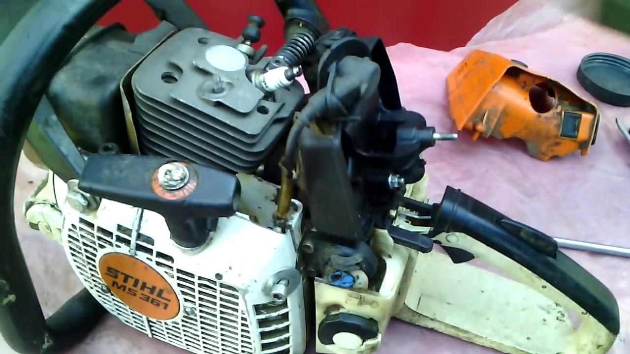 STIHL MS 170/180 Чистка, ремонт, профилактика и настройка .