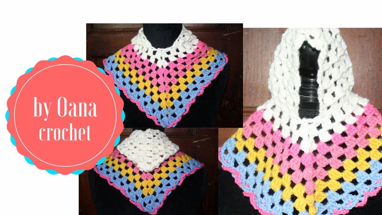 Crochet Granny Poncho By Oana Youtube