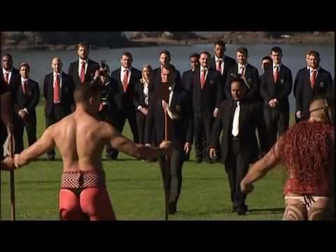 British & Irish Lions are welcomed to Waitangi, New Zealand | Newshub