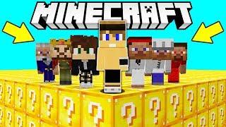 SUPER LUCKYBLOCK CHALLENGE contro 6 FAN!! - Minecraft ITA