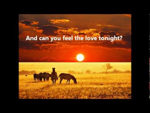 Can you feel the love tonight lion king lyrics