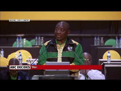 Cyril Ramaphosa's first speech as ANC president